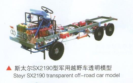 6比例制造,附汽车电路 02  解放ca1091整车透明模型(解放141) 台