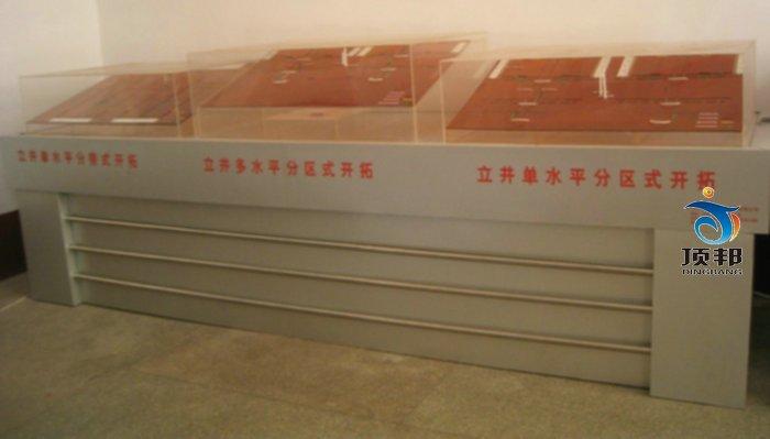 矿井开拓方式立体模型